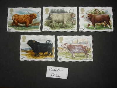 GB Stamps 1984 British Cattle SG1240-1244 MNH