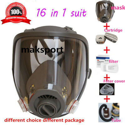 Gas Mask/ filter Full Face Facepiece Respirator  For  6800 Dust Paint Spra