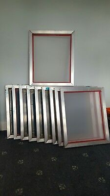 SCREEN PRINTING 10 A3 43T alu Frames, 3 A4 wood, Scoop Coater, Ink, Accessories