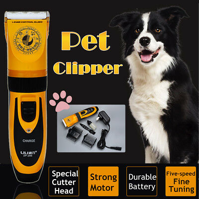 ☆ Pet Cat Dog Hair Clippers Professional Cordless Electric Trimmer Fur Grooming