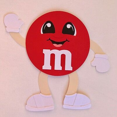 Red M&M - fully assembled die cut / paper piecing