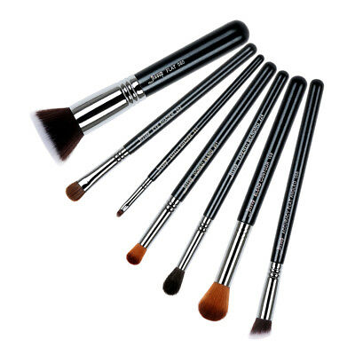 Jessup Pro Eye Make Up Brush Set Blush Eyeshadow Contour Blending Cosmetic 7Pcs