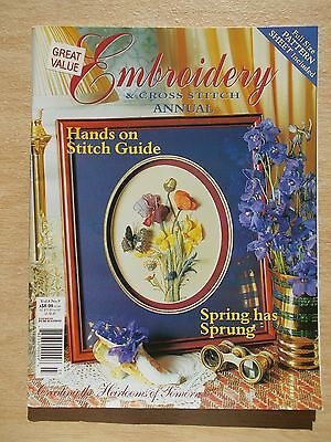 Embroidery & Cross Stitch Vol 8 #9~Clock~Violets~Blanket~Hardanger~3D Flowers~