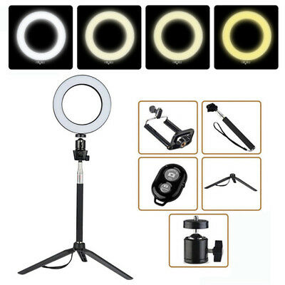 "8"" LED Studio Ring Light Photo Youtube Video Dimmable Lamp Light Kit For Phone"