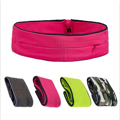 Belly Waist Bum Bag Fitness Running Jogging Belt Pouch Sports Fanny Pack Fid