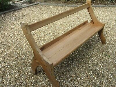 "5 ft 3"" STRIPPED PINE CHURCH PEW / BENCH. Delivery possible. More pews & tables."