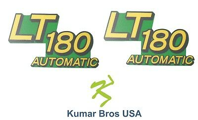 New Lower Hood Set of 2 Decals Replaces AM132038 Fits John Deere LT180