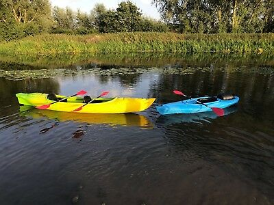 One Man Sit In Kayak With Paddle  And Barrel 280cm/9.2ft - Blue