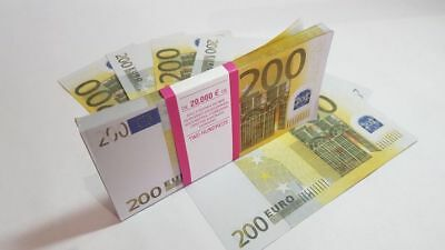 200 EURO SOUVENIR BANKNOTE 1 pack for Prank, Games, Movies & Videos and Gift