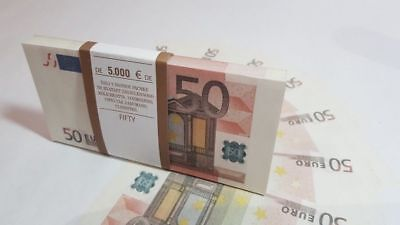 €50 EURO SOUVENIR BANKNOTE 1 pack for Prank, Games, Movies & Videos and Gift