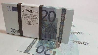 20 EURO SOUVENIR BANKNOTE 1 pack for Prank, Games, Movies & Videos and Gift