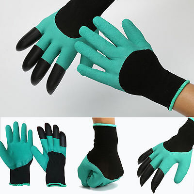 New Garden GENIE Gloves For Digging&Planting With4 ABS Plastic Claws Gardening