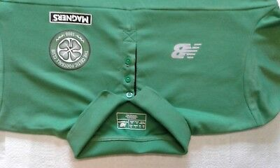 celtic fc mens large polo shirt new balance good condition  used
