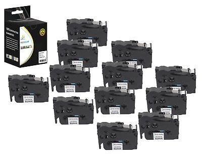 12PK Replacement TZe231 Black on White 1/2in 26.2ft Label Tape Brother Ptouch