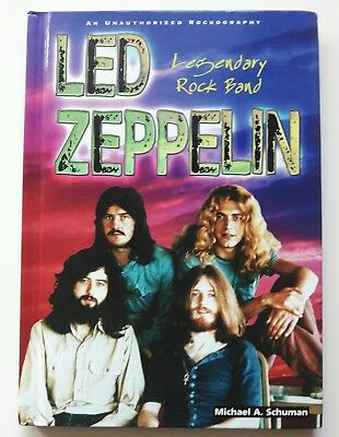 Led Zeppelin Book Legendary Rock Band Unauthorized Rockography Library Edition