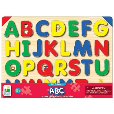 ABC Puzzle Set Learning Alphabet Kids Educational Fun Play Jigsaw Tray Puzzles