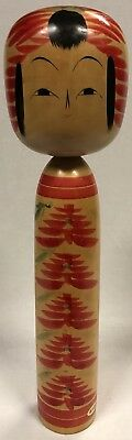 Vintage Large Authentic Kokeshi Doll 37cm Hand Painted Signed to Base