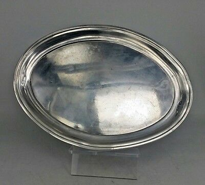 1795 George III oval silver tray or stand by R & D Hennell