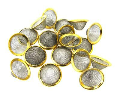 17mm 5 | 10 | 20 Brass Bowl Conical Gauzes Smoking Pipes Filter Screens Metal