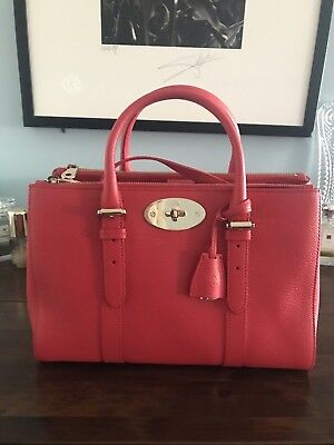 d58f3a93379 ... shop mulberry small bayswater double zip tote hibiscus new 6ad58 a0ae0