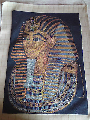 King Tut, Hand Made Goblin Tapestry,wall Hanging, Complete, Embroidery
