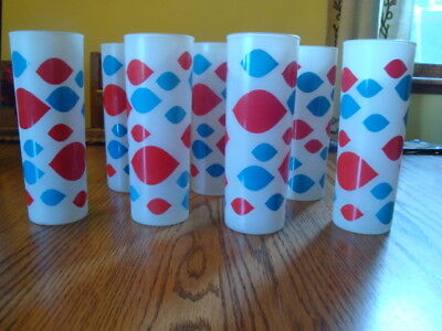 Vintage 1980 Frosted Dairy Queen Glasses/Tumblers~8