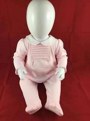 Baby Girls Pleated 2 Piece Cotton Set In Pink By Mintini