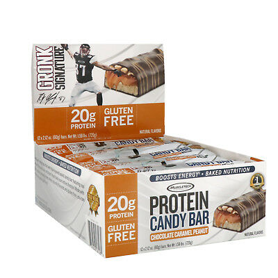 Muscletech, Protein Candy Bar, Chocolate Caramel Peanut, 12 Bars, 2.12 oz (60 g)