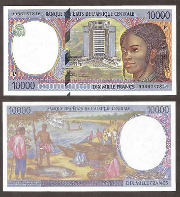 CENTRAL AFRICAN STATES 2000, 10000 fr. CHAD P-605Pf GEM UNC - US-Seller