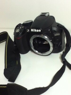 Nikon D3100 14.2MP Digital SLR Camera - Black BODY ONLY w/Battery NO CHARGER-FS