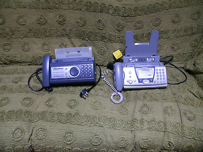 Panasonic and Sharp phone fax machines
