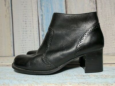 THOM MCAN Womens Sz 9/ 40.5 EU Black Leather Ankle Boots Zip Up Booties