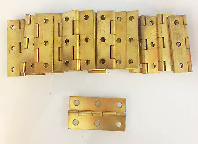 brass hinges box NOS 3 inch narrow in original box 10 pair