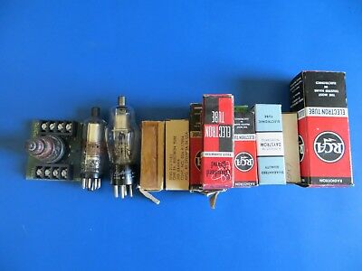 Lot of vacuum tubes all Working most are New in Box
