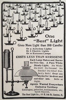 1903 Ad(G16)~The Best Light Co. Canton, Ohio. Gas Lamps