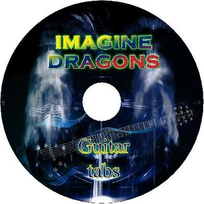 Imagine Dragons Bass & Guitar Tab Cd Tablature Greatest Hits Best Of Music Audio