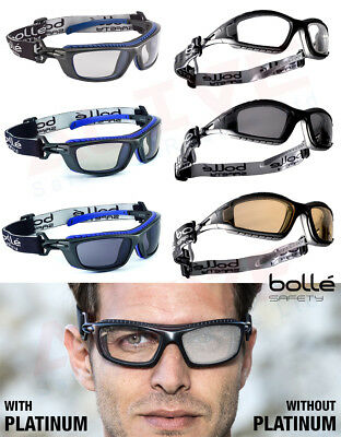 Bolle Safety Glasses -BOLLE TRACKER & BAXTER PLATINUM Anti-Scratch Anti-Fog Lens