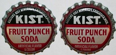 Soda pop bottle caps KIST FRUIT PUNCH Lot of 2 cork lined unused new old stock