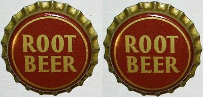 Soda pop bottle caps ROOT BEER #1 Lot of 2 cork lined unused and new old stock