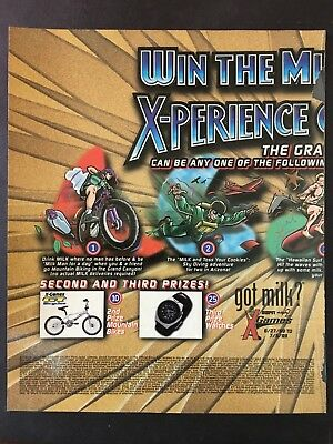 got milk ad - ESPN X-games contest - 2 oversized pages