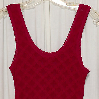 Girl's Lingerie Nightgown Slip Lace Satin Burgundy S