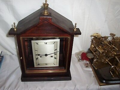 Lovely One Off Special Made Time And Strike Bracket,mantle Clock In 4 Glass Case