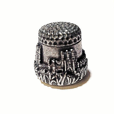 """Pewter Thimble Ely Cathedral in Original Box 3/4"""" hi"""