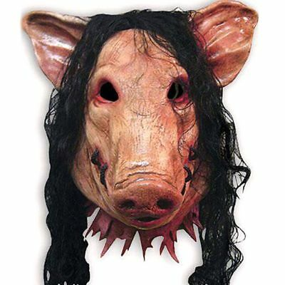 Halloween Mask 1PC Saw Pig Head With Hair Cosplay Costume Latex Festival Supply