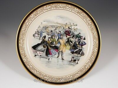 1984 Lenox Limited Christmas Issue CURRIER IVES CENTRAL PARK SKATING POND Plate
