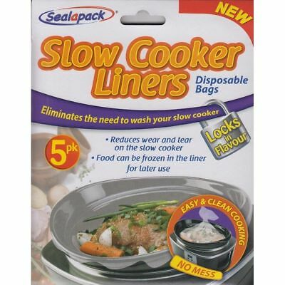 Sealapack Slow Cooker Liners Pk of 5 For Round & Oval Slow Cookers No Mess Bags