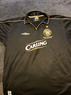 Celtic Away Shirt - Black/Gold Jersey 2003/2004 season - Large Adult Size
