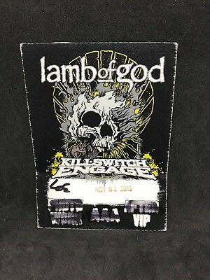 Lamb Of God Killswitch Engage VIP Cloth Pass 2013 Chris Adler Light The Torch
