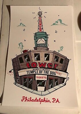 Temple of the Dog 2016 Tower Theater Poster Chris Cornell Vedder Pearl Jam