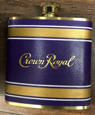 Crown Royal Flask Tailgate Purple And Gold 6 oz 2018 Edition